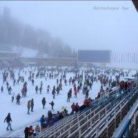 Туман на Медео. :: Anna Gornostayeva