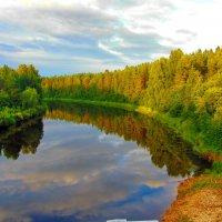 Вечер над рекой Суда :: olgaborisova55 Борисова Ольга