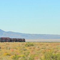 поезд в пустыне Мохаве :: Алексей Меринов