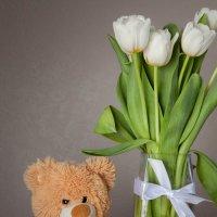 Мишка с тюльпанами :: Наталья Повстина