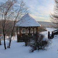 Зимнее утро в деревне. :: Пётр Сесекин