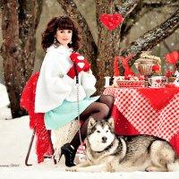 Фотосессия с маламутом с яркими аксессуарами :: Татьяна Семёнова