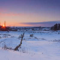 Зимний закат... :: Юрий Стародубцев