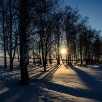 Февральский закат :: Дмитрий Тарарин