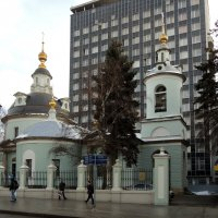 Церковь Космы и Дамиана (Исцеления Спасителем расслабленного) на Маросейке. :: Александр Качалин