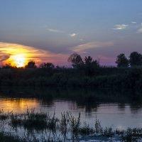 Закат над р.Исеть :: Ирина Сорокина