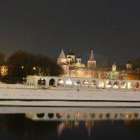 Вид на торговую сторону в Великом Новгороде :: Антон Леонов