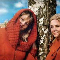 Две сестры у берёзы :: Olga Zhukova