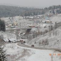 Первый снег.Усьва. :: petyxov петухов