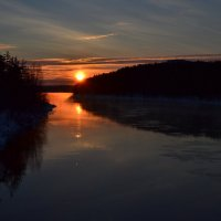 Зимний закат :: Ольга