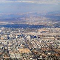 Лас-Вегас с самолёта... :: Елена