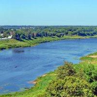 Западная Двина в Полоцке - лето 2014 -панорама :: yuri Zaitsev