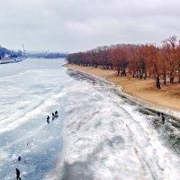 Река Сож в Гомеле -последний лед 2015-панорама :: yuri Zaitsev