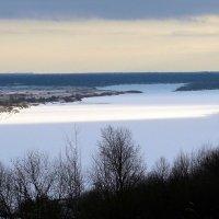 Река Ока, а дальше за Окою бескрайнею туманною грядою... :: veilins veilins