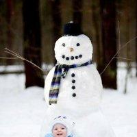 Артемка и снеговик :: Николай Артёмов