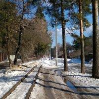 Март, детская железная дорога. :: Валерий Пегушев