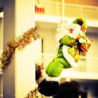 Санта Клаус тайно покидает Букингемский дворец. :: Эрик Делиев
