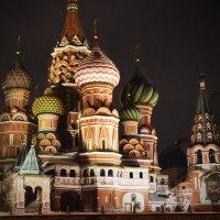 Храм Василия Блаженного в Новогоднюю ночь :: Дария Туркова