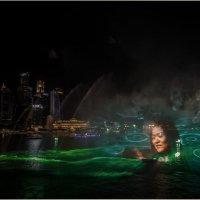 Лазерное шоу на набережной Кларк-Ки.Сингапур. :: Александр Вивчарик