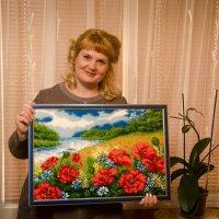 "Картина бисером ""маковое поле"" :: Евгений Малахов"