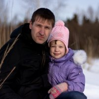 Папа и дочка :: Алексей -
