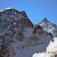 горы. пик Школьник высота 3800 м. :: Горный турист Иван Иванов