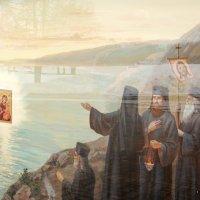 Фрагмент ворот Иверского монастыря. :: Ирина Нафаня