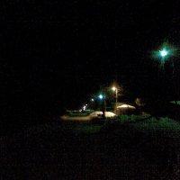 Посёлок, ночь, фонари :: Владимир Ростовский