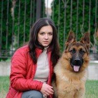 Дама и собачка......)) :: Юрий Белов