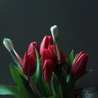 Букет для художницы в естественном свете из окна :: Тата Казакова