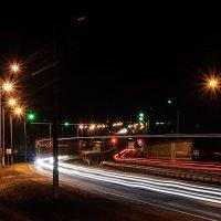 Трасса Витебск-Полоцк идущая через Шумилино.   (Ночная съёмка 31.03.2015) :: Анатолий Клепешнёв