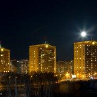 Микрорайон МЖК ночью. Новосибирск :: Николай Мелонов