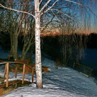 Вечер в деревне, у реки. :: Пётр Сесекин