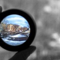 Вид из окна через линзу :: Айнагуль Бекебаева