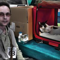 Мы и наш Хозяин-из серии Кошки очарование мое! :: Shmual Hava Retro