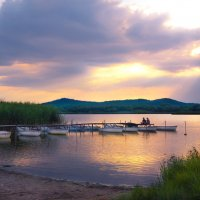 Закат на озере :: Любовь Б