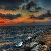 Вечер, Средиземное море.Израиль.Ашдод. :: Igor Bulkin