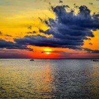 Закат на Карибском море :: Лёша