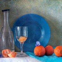 мандарины на синем :: Марина Торопова