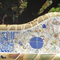 Скамейка-змея. Спинка скамьи (применена технология мозаики «тренкадис») :: Елена Павлова (Смолова)