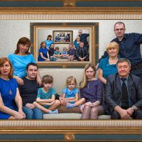 Ну очень серьезная семья. :: Margarita Shrayner