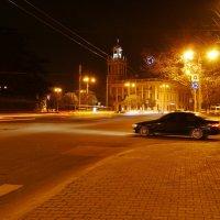Ночной Севастополь. Площадь Ушакова :: Андрей Козлов