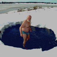Виктор Кузьмич Мастренко принимает ванну :: Валентин Кузьмин