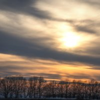 закат уходящей зимы :: Александр Беляков