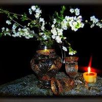 Томная вишня в цвету...  Ветви протянет к тебе... :: Людмила Богданова (Скачко)