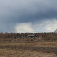 Пейзаж с дождевыми тучами..... :: Сергей Рыжков