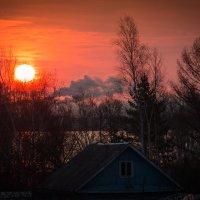 Два снимка с одного места. Утро. :: Сергей Щелкунов