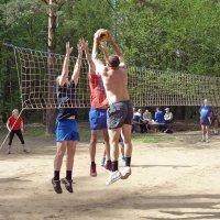 Борьба за мяч вверху :: Александр Орлов