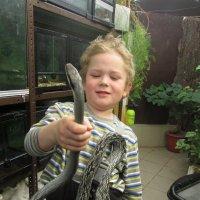 мальчик со змеёй :: larisa Киселёва