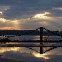Волга, закат :: Александр Попов